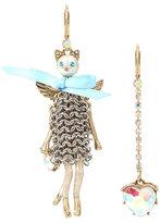 Betsey Johnson Heaven On Earth Kitty Mismatch Earrings