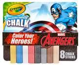 Crayola ; Sidewalk Chalk 8ct - Marvel's Avengers Captain America