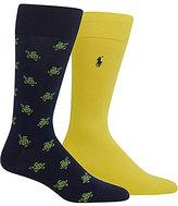 Polo Ralph Lauren Big & Tall Tossed Turtles Crew Dress Socks 2-Pack
