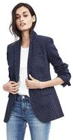 Banana Republic One-Button Dotted Blazer