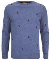 Boss Orange Wilcott Embroidered Sweater Sky