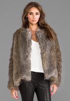 Puffer Faux Fur Jacket