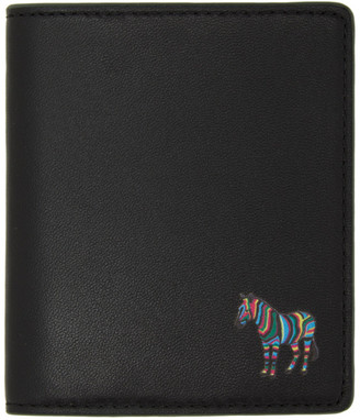 Paul Smith Black and Green Zebra Bifold Wallet