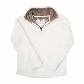 Pavilion Gift Company Pavilion - Love You Sister - Medium Women's Warm Cozy Sherpa House Sweatshirt Cream