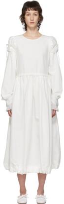 Renli Su White Puffed Shoulders Dress