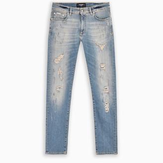 Represent Black Repaired skinny jeans