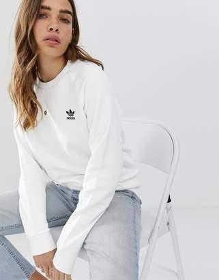 adidas Essential crew neck sweat in white