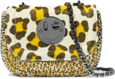 Hill & Friends Happy Tweency leopard-print calf hair shoulder bag