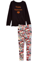 Beary Basics Black 'Happy Halloween' Tee & Monster Leggings - Toddler & Girls