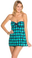 Tommy Hilfiger Fly Dobby Gingham Bandeau Swimdress 8125561