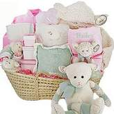 Cashmere Bunny Personalized Lamby Love Moses Gift Basket by Baby Gift Basket