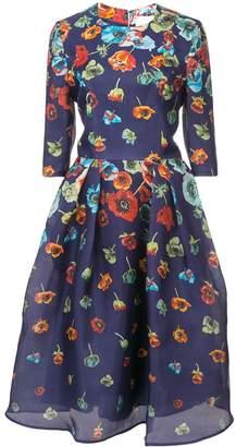 Carolina Herrera floral-print flared dress