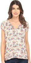 Sanctuary Women's City Girl Printed Pleated Blouse