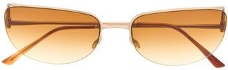 Prada Pre Owned 1990s Gradient Cat-Eye Sunglasses