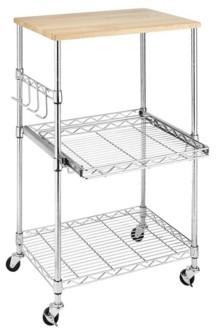 Whitmor Supreme Rolling Microwave Cart
