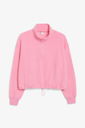 Monki Drawstring fleece sweater