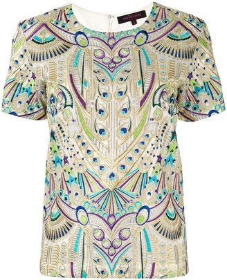 Manish Arora embroidered peacock T-shirt