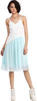 Romwe Dual-tone Asymmetric Camisole Dress