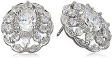 "Carolee The Cloisters"" The Cloisters Clear Crystal Stud Pierced Stud Earrings"
