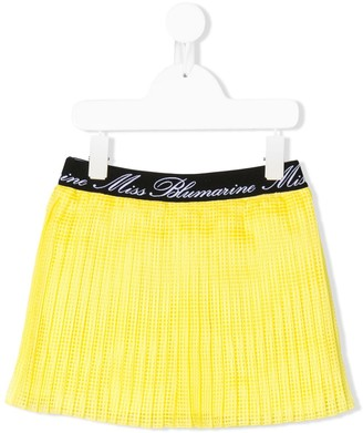 Miss Blumarine Logo Lined Skirt