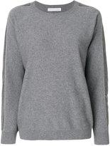 Fabiana Filippi striped sleeve jumper - women - Silk/Cotton/Cashmere/Merino - 42