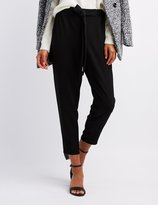 Charlotte Russe Skinny Pull On Crepe Trousers