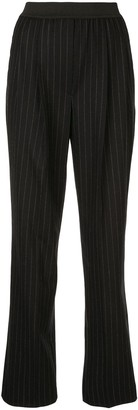 LOULOU STUDIO Elasticated Stripe Print Trousers