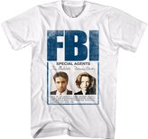 X-Files Men's X-Files Mulder Scully Badge Graphic T-Shirt