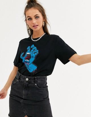 Santa Cruz Screaming Hand t-shirt in black