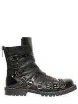 Gareth Pugh Belted Leather Low Boots