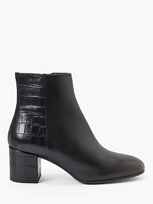 John Lewis & Partners Post Block Heel Ankle Boots