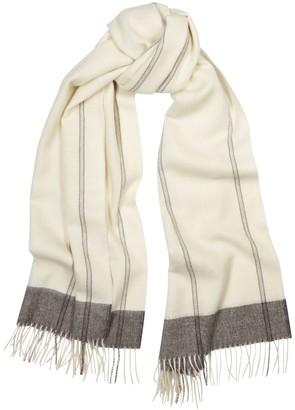Eileen Fisher Ivory striped alpaca scarf