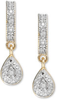 Townsend Victoria 18k Gold over Sterling Silver Earrings, Diamond Accent Pear-Shaped Drop Earrings
