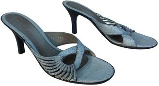 Dries Van Noten Grey Patent leather Sandals