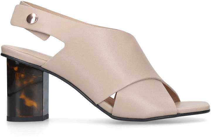 Nude Mid Heel Sandals - ShopStyle UK