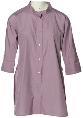 Jil Sander Purple Cotton Tops
