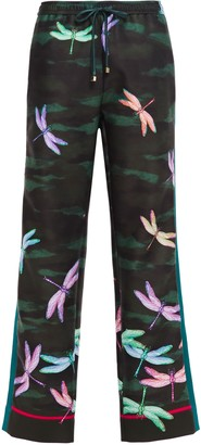 F.R.S For Restless Sleepers Ettore Printed Scuba Wide-leg Pants
