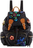 Burberry Medium Rucksack Prorsum Patch Nylon Backpack, Black