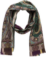 Etro Paisley Wool-Blend Scarf