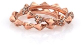 House Of Harlow Spike Stack Two Ring Set - 14 Karat Rose Gold Plated
