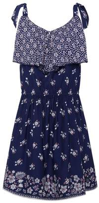 Pepe Jeans Strappy Floral Print Dress, 8-16 Years