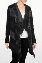 NYDJ Fairisle Draped Cardigan