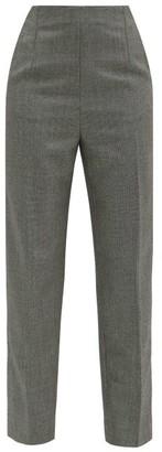 Christopher Kane High-rise Wool Straight-leg Trousers - Black White