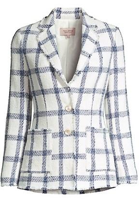 Rebecca Taylor Plaid Tweed Jacket