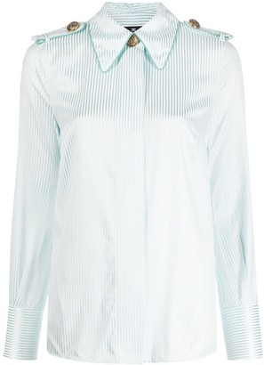 Elisabetta Franchi Striped Print Shirt