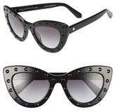 Kate Spade Women's 'Luanns' 50Mm Cat Eye Sunglasses - Black
