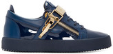 Giuseppe Zanotti Navy Patent Leather London Sneakers