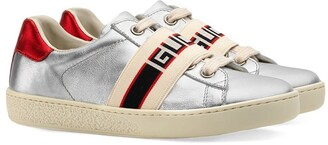 Gucci Kids Toddler Ace sneaker with Gucci stripe