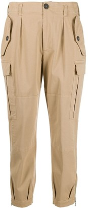 Semi-Couture High Rise Cropped Cargo Trousers