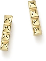 Chicco Zoe 14K Yellow Gold Spiked Bar Stud Earrings